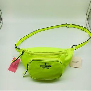 Kate Spade Dorien Nylon Belt Bag Neon Yellow